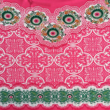 hot selling high quality lace fabric digital printing wholesale