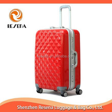 Red Aluminum Frame Strong Large Suitcase