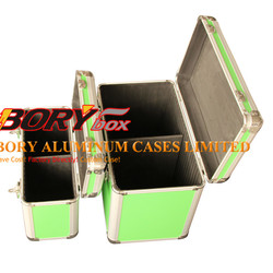Custom green high quality aluminum dvd storage case