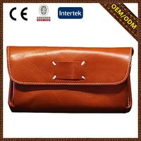2015 new fashion style retro leather purse brands with CE certificate