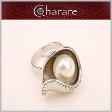 Newest design good price opal pearl ring