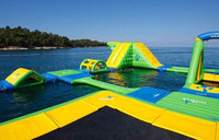 inflatable water park,outdoor summer giant amusement park ride ,flowing water sports game