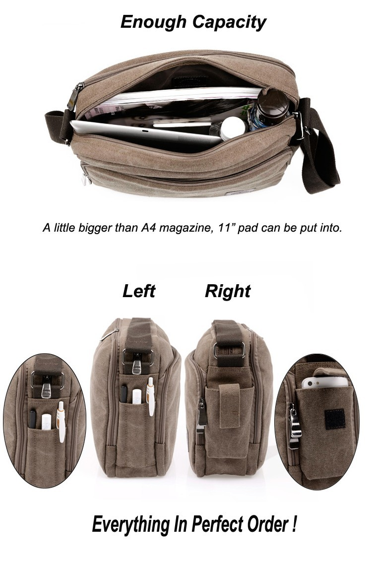New 2014 Men's Messenger Bags High Quality Canvas Multifunction Should