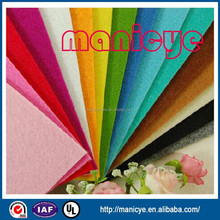 polyester felt for craft pink blue green brown grey