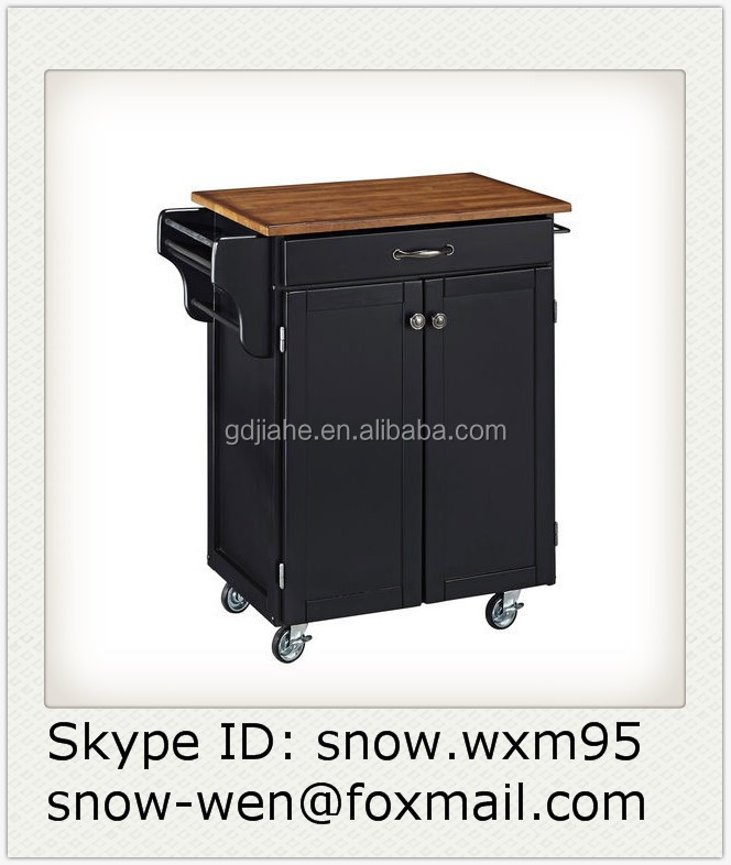 나무 흰색 부엌 트롤리, 바퀴 부엌 캐비닛-주방 가구 -상품 ID ...