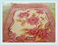 big flower print polyester throw sleeping blankets for adult