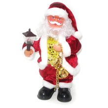 best selling knit christmas santa claus popular promotional santa toy movable santa claus decoration