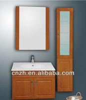 floor standing plastic triangle bathroom mirror cabinet