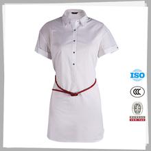 Alta calidad de encargo modelo simple blusa de la oficina uniforme