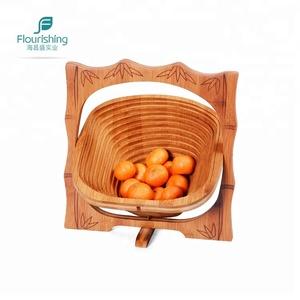 웨딩 선물 장식 접이식 휴대용 대나무 과일 바구니
