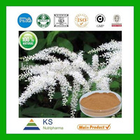 Manufacturer supply Pure Natural standardized Black Cohosh extract Triterpene Glycosides 2.5%