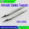 Factory ESD-259X Anti-static Stainless Tweezers,ESD Exchanged Tip Tweezer,Anti-Static Head Changeable Tweezers
