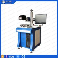 Huahai laser machine Desktop Fiber laser Marking Machine 10w/20w/30w Metal tube name plate/plastic parts laser marking