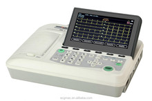 Classic Best CE and TUV Approved Digital 3 Channel Electrocardiograph ECG EM-301 with 4G SD Card Storage and Pritner Access