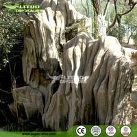Landscape Decoration Project Artificial Rock Fiberglass Landscape
