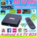Amgloic s802 m8 tv-box android mit Addons Gotham Kodi Quad-Core cor-tex-a9 2,0 GHz mali- 450 8- Kern GPU