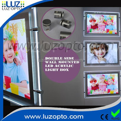 double sides acrylic panel,fashionable led light window display,acrylic poster holder with brouchure pocket