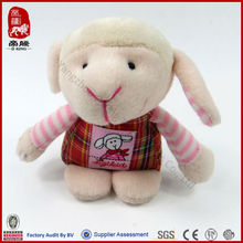 soft stripped coat lamb toys manufacture
