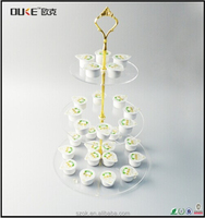 hot selling desktop clear 3 tier acrylic cake stand