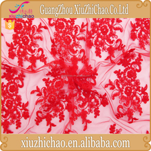 M0083-33-A-3(10.1)Manufacturer online selling best price bridal corded red lace fabric for dress making