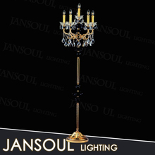 zhongshan modern wholesale antique brass indian crystal clear candelabra floor lamps UL