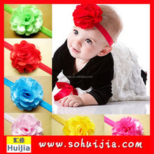 Baby Girl Headband with Big Bow Infant Girls Hair Bows Rose Bow Headbands Lace Elastic Hairband