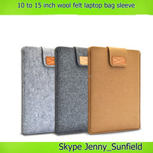 10 to 15 inch wool feel laptop bags laptop sleeve 15 inch , for macbook case sleeve