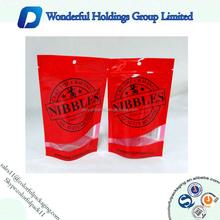 Custom printed zipper pouch/clear window/aluminum foil pouch