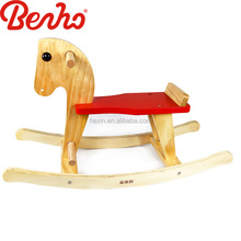 Wooden Rocking Horse Baby Walking Ride on Toy
