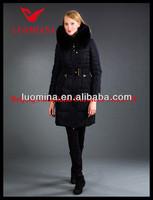 2014 Latest Real Fur High Quality Fashion Winter Shiny Stock Clothes Garment in Dubai