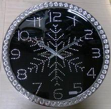 Acrylic Wall Clock with Diamond Decoration for Chrismas promotion