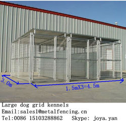 Portable dog run kennels 1.5mx3.0mx1.8mx3 runs dog kennels with frame top