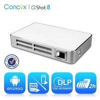 JIMI Q Shot8 Multimedia LED Projector proyector android with built-in battery