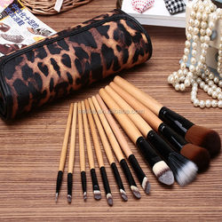 new design top-quality soft travel synthetic beauty needs 12 pcs cosmetic brush set