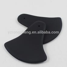 hecho a mano oval negro basalto masaje de piedra de jade piedra de masaje