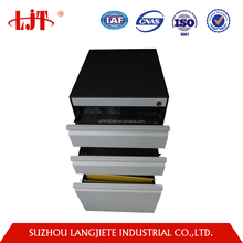 Modern Office Mobile 3 Drawer Steel Colorful Fill Cabinet/Metal Mobile Small Filing Pedestal with Central lock