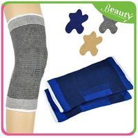 color full nylon fleece sleeve knee support ,H0T004 waterproof knee brace , high plasticity patella support