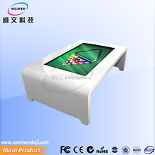 White color infrared double touch lcd interactive table 55inch for kids play games