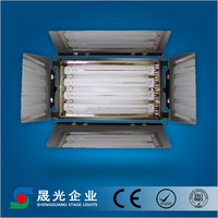 4 bank Tricolor fluorescent Light +Ballast + Flycase for studio and conference