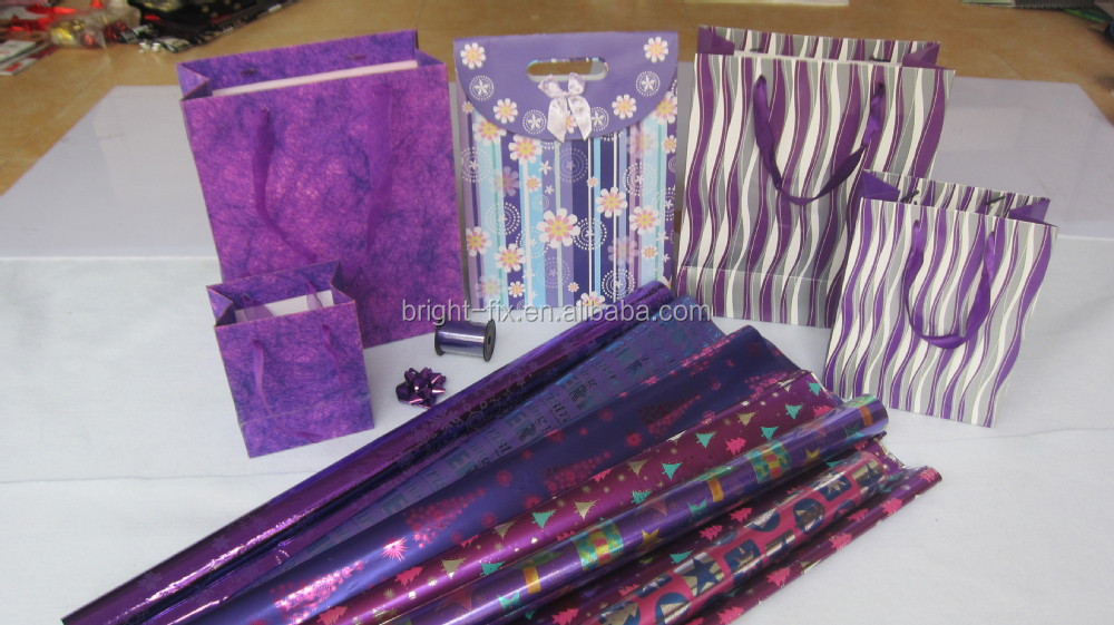 Christmas gift wrapping paper sets