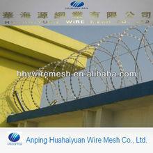 concertina razor barbed wire manufacture galvanized razor wire BTO22 SUS304 razor wire
