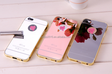 2015 New Metal plating mirror back mobile phone case for 5G/6G/6G Plus