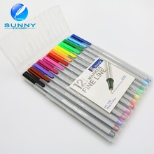 Wholesale high quanlity multi color plastic 0.4mm fine liner marker pen drawing pen for student