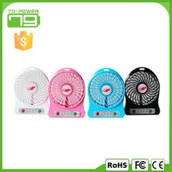 Mini USB fan rechargeable with 18650 battery mini hand fan