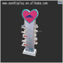basketball shoes for sports men acrylic shoes display rack