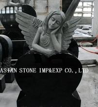 Shanxi Black Polished Angel Tombstone