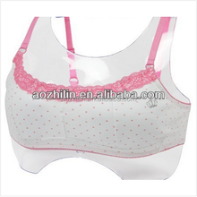 Lovely Dots Printed Girls Cotton Top Bra with Charming Lace