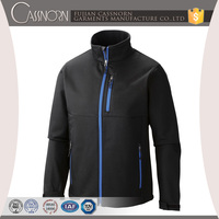 factory price polyester windproof stretch running softshell jacket men