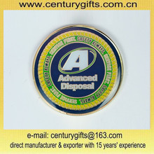Cheap customized challenge coin,gold plating/epoxy,Advanced Disposal, customized design are accepted