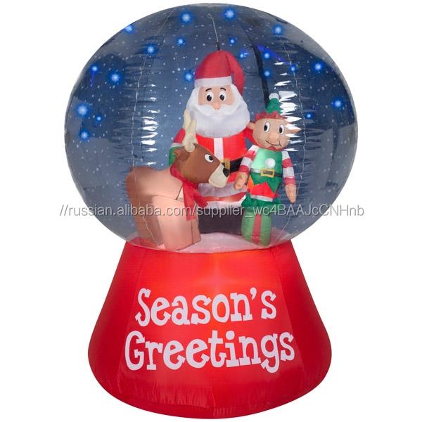 2018 на открытом воздухе рождественские украшения, Gemmy надувные декорации, <span class=keywords><strong>снег</strong></span> с проблеском светодио дный